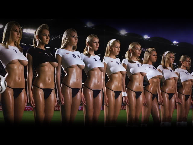 players Sexy girl soccer